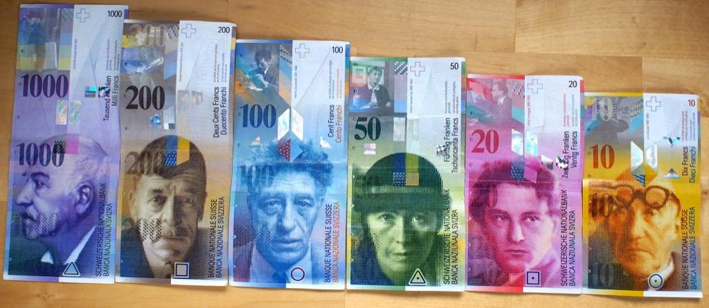 billet de banque franc suisse